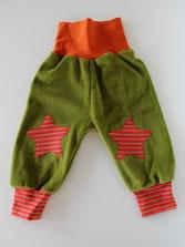Lumpenprinzessin Babyhose Nicky Sterne grün