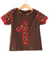 Lumpenprinzessin T-Shirt Geburstagsshirt Babyshirt Pilze braun Genähtes Handarbeit