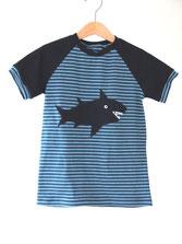 Lumpenprinzessin T-Shirt Hai blau Campan Genähtes Handarbeit
