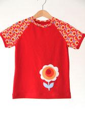 Lumpenprinzessin T-Shirt Blossom Blume Hamburger Liebe Dutch Love rot Genähtes Handarbeit