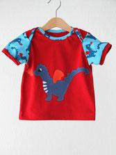 Lumpenprinzessin Pilze T-Shirt Babyshirt nach dem Schnitt von Klimperklein www.klimperklein.de Genähtes Kindershirt Retro Handarbeit Nähen