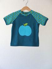 Lumpenprinzessin T-Shirt Äpfelchen petrol