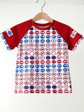 Lumpenprinzessin T-Shirt-Verkehrsschilder Genähtes Kindershirt Retro Handarbeit Nähen