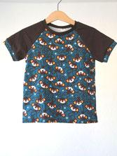Lumpenprinzessin T-Shirt Kurzarm Little Monkey braun petrol Handarbeit Genähtes