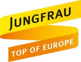 Logo Jungfraubahnen. Bergbahn Unternehmung Schweiz.