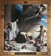 Le martyre de saint Denis, par Bonnat, fresque du Panthéon, Paris
