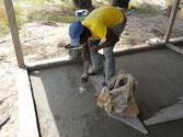 Zementboden in Arbeit