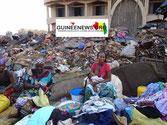 Abfall auf Markt in Conakry