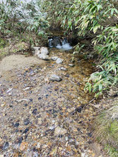 ▲鳥原小屋の水場。非常にありがたい。
