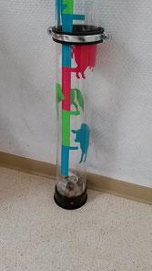 Die Spendenröhre wurde im Kindergarten aufgestellt