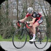 Accès photographe reportage chambéry sport Femme cycliste sur une course a Chambery