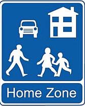 Verkeersbord - Home zone
