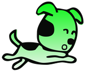 chien vert court heureux dessin vectoriel pate assurance chat chien animal animaux