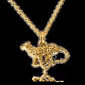 Anfertigung auf Kundenwunsch: Anhänger Gepard in Gelbgold