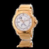 Armbanduhr in Rotgold von Carl E. Bucherer mit einem Armband von Goldschmiede OBSESSION