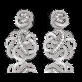 Ohrhänger in Weissgold mit Brillanten und Tahitiperlen aus der Unendlichen Geschichte Kollektion der Goldschmiede OBSESSION
