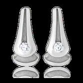 Ohrstecker in Weissgold mit Perlen und blauen Brillanten aus der Gremlin Kollektion der Goldschmiede OBSESSION