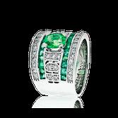Art Deco Smaragd Ring
