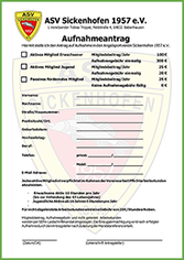 Aufnahmeantrag ASV-Sickenhofen 1957 e.V.