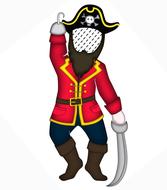 Pirat individualisiert, Seeräuber, Namenskissen, Kinderkissen, Babykissen, Fotokissen, Tierkissen, Kuschelkissen