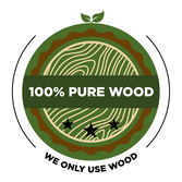 100% Pure Wood logo