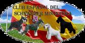 Logo club Español del schnauzer Miniatura Sal y pimienta, Negro , Negro y Plata y Blanco