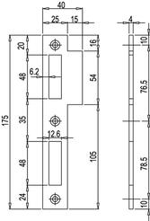 Lappenschliessblech MSL 1870.16