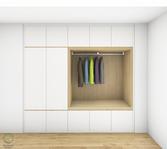 Garderobenschrank Entwurf - Griffleiste waagrecht