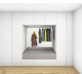 Garderobenschrank Entwurf - graue Fronten