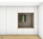 Garderobenschrank Entwurf - Garderobennische seitlich