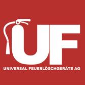 Logo Universal Feuerlöschgeräte. Brandschutz Unternehmung Schweiz.