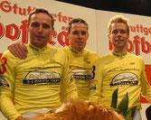 Sieg bei den 23. Stuttgarter Hofbräu-6-Tagen für das 3-Löwen-Takt-Team mit Leif, Robert Bartko und Guido Fulst