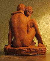 sculpture couple nu enlacé.nouveausculpteur nus artistiques