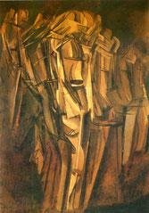 汽車の中の悲しげな青年(1911)