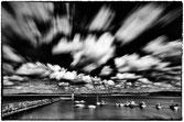 Effet des nuages sur le port de Mogueriec