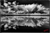 reflet dans les eaux du lac des landes