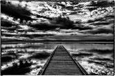 Le ponton, avancée sur le lac au grand reflet