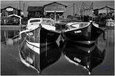 Deux pinasses au port du Teich