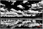 Reflets des nuages dans le lac