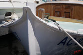 Au port d'arcachon, pinasse amarrée