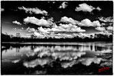 reflet des nuages dans le lac