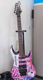 angelbeatsラッピングのギター