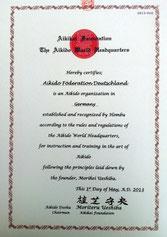 AFD Aikikai Anerkennung