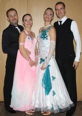 Hannes & Dominica Petzold sowie Marco & Silke Gettel beim Fontanepokal Neuruppin 2013
