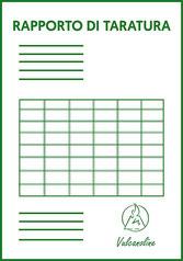 Rapporto di taratura emesso per taratura strumenti di misura