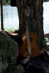 Gitarre am Baum, Pfadfinderfahrt