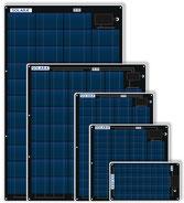 Solarmodule, EXTREM FLACH, BEGEHBAR UND SEMIFLEXIBEL, ,See- und Salzwasserbeständig Teflonoberfläche, extrem widerstandsfähige Schutzfolie auf Vorder- und Rückseite. Besonders flach verklebt oder verschraubt. Kabelausgang mit Zugentlastung Zellprotektor