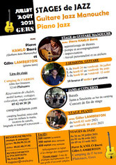 Stage Guitare Jazz Manouche 2021 - Camping gers arros - light