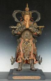 Statue de Weituo ou Skanda, gardien des temples bouddhistes.
