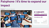 Fairphone's crowdfunding campaign
